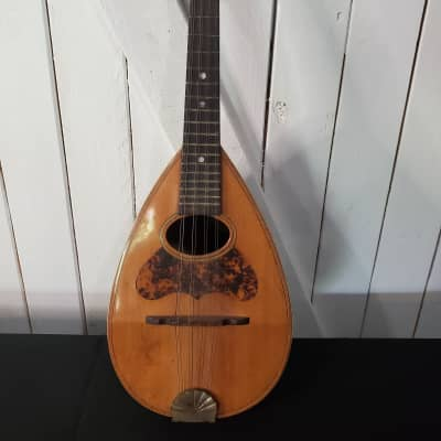 Lyon and Healy Bowlback Mandolin 1900s Natural for sale