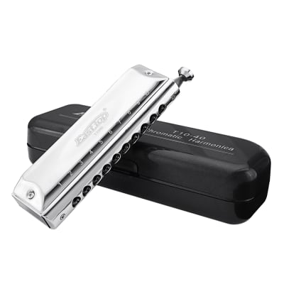 10 Holes 40 Tunes Chromatic Harmonica Key of C Mouth Organ Musical Instrument for Professional Playe