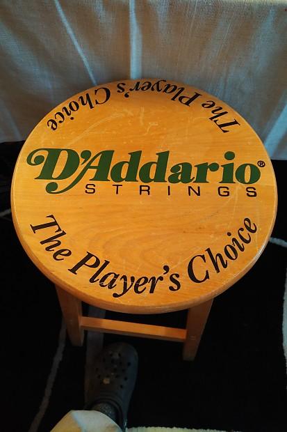 Swell Daddario Logo 4 Leg Wooden Stool 1990 Wood Attic Opolis Pdpeps Interior Chair Design Pdpepsorg