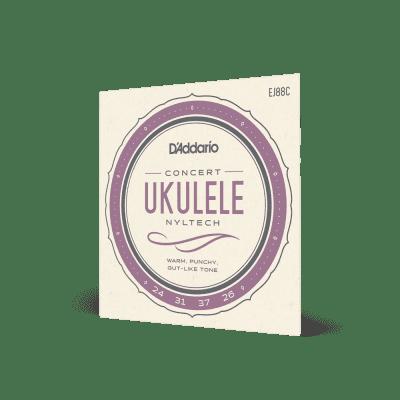 D'Addario #EJ88C - Concert Ukulele Nyltech Strings, 24-31-37-26