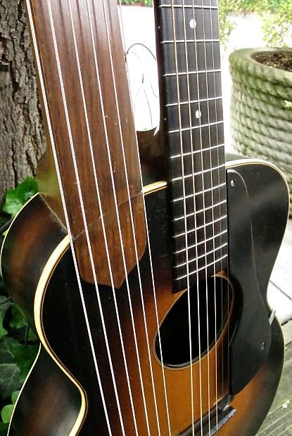 regal r90 archtop harp guitar circa 1937 reverb. Black Bedroom Furniture Sets. Home Design Ideas