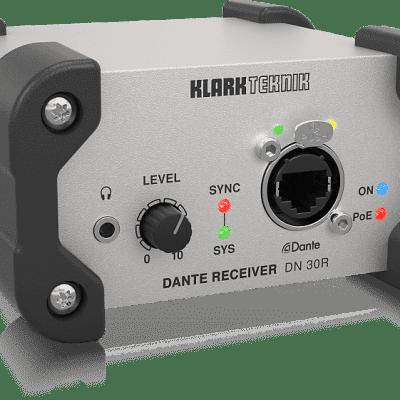 Klark Teknik DN 30R 2-Channel Dante Audio Receiver, High-Performance Networking