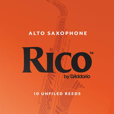 Rico Alto Saxophone Reeds Strength 2-1/2, Box of 10