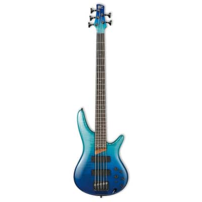 Ibanez SR875-BRG Soundgear Flamed Maple Top Active 5-String Bass Blue Reef Gradation