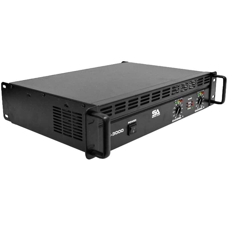 new seismic audio power amplifier pa dj amp 3000 watts reverb. Black Bedroom Furniture Sets. Home Design Ideas