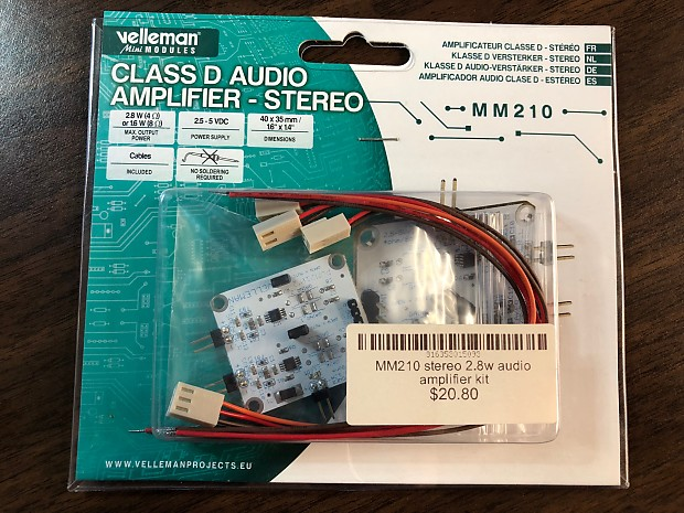 Velleman MM210, Class D Audio Amplifier - Stereo DIY Kit