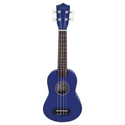 Glarry UK101 21inch Soprano Rosewood Fingerboard Basswood Ukulele Blue for sale