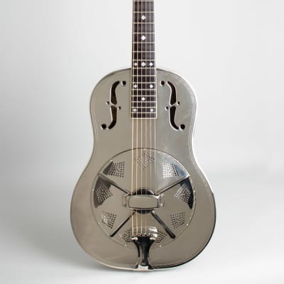 National  Style 0 Deluxe Resophonic Guitar (2004), ser. #1763-2, original black tolex hard shell case. for sale