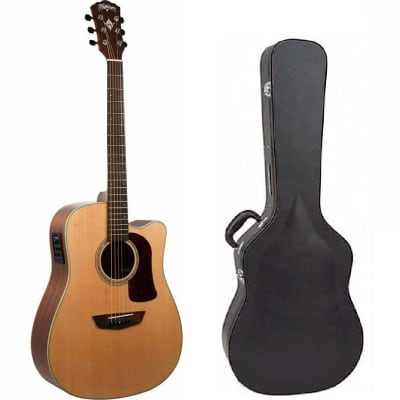 Washburn Heritage 100 Series | HD100SWCEK Acoustic Electric Guitar with Case - New Open Box
