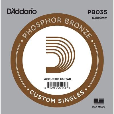 D'Addario Phosphor Bronze Acoustic Single String PB035