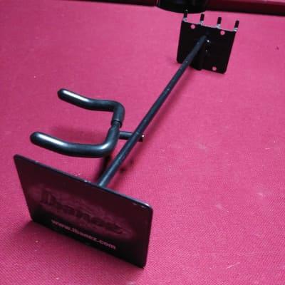 Ibanez Guitar Hanger Left Side Angled Slatwall Hook Black Holder