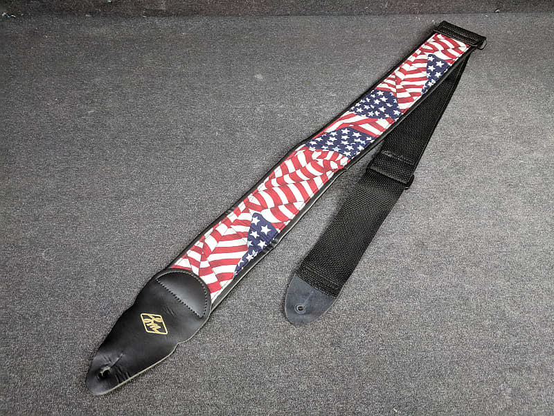 lm american flag 3 padded guitar strap reverb. Black Bedroom Furniture Sets. Home Design Ideas
