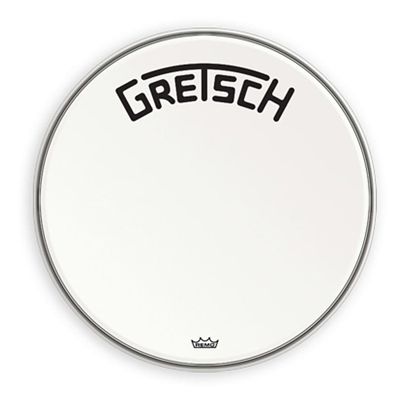 Gretsch Bass Drum Head Coated 18 With Broadkaster Logo GRDHCW18B