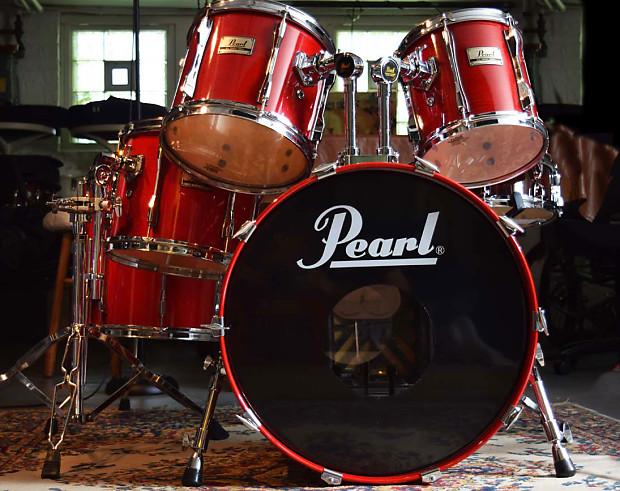 pearl blx birch drum kit sequoia red sale thru reverb. Black Bedroom Furniture Sets. Home Design Ideas