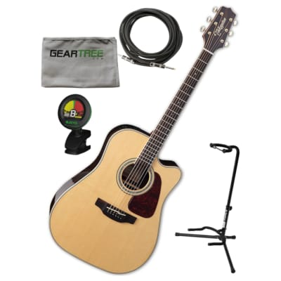 Takamine GN90CE ZC NEX Body Acoustic Electric Guitar w/ Gig Bag, Stand, Cloth, Cable, and Tuner