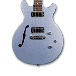 Daisy Rock DR6302 Stardust Retro-H Electric Guitar, Ice Blue Sparkle for sale