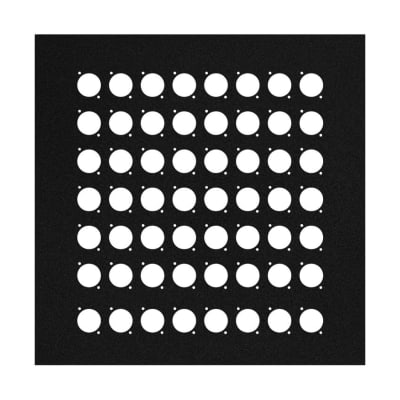 Elite Core EC-PNL-13-56D 13-inch Square Flat Metal Wall Panel with 56 D-Series Punch-Outs