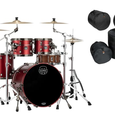 Mapex Saturn Evolution Workhorse Maple 5pc Tuscan Red Lacquer Drum Kit | 22x18,10x8,12x9,14x14,16x16