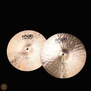 "Paiste 14"" Masters Dark Hi-Hat Cymbals (Pair) Traditional"