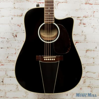 Carlos E241C Cutaway Acoustic-Electric Guitar - Black (USED) for sale