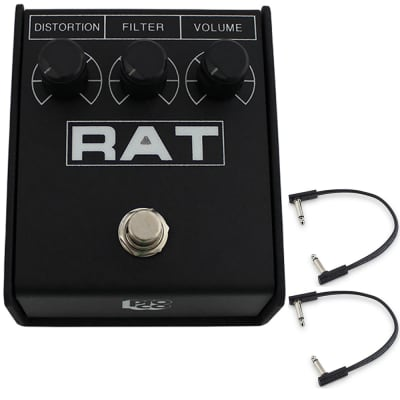 Pro Co Rat 2 Distortion, Fuzz, Overdrive Guitar Effects Pedal w/ (2) Flat Patch for sale