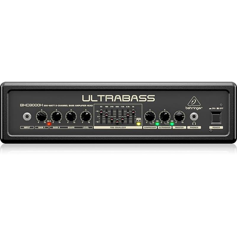 behringer ultrabass bxd3000h 300w 2 channel bass amp head reverb. Black Bedroom Furniture Sets. Home Design Ideas