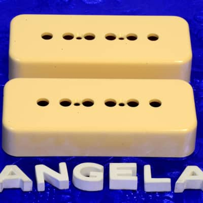 2x Lindy Fralin Cream P90 Soap Bar Pickup Covers! The Best! Set of Two Soapbar image