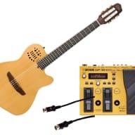 Godin Guitars ACS SLIM Nylon Synth Access 2-Voice Narrow + Boss GP-10S + Roland GKC-5