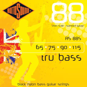 """Rotosound RS88S Short Scale 30"""" to 32"""" scale 4 String Black Nylon Flatwound Bass Guitar Strings 65-1"""