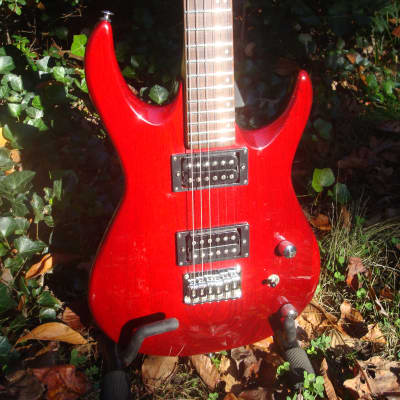 Vantage Strat H H style 1990s Red Trans... Korea for sale