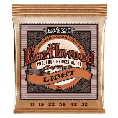 Ernie Ball 2148 Earthwood Light Phosphor Bronze Acoustic Guitar Strings