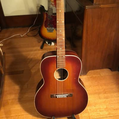 Kay 1940's OM Size  Flat Top Guitar,  Red Sunburst, Fully Restored. for sale
