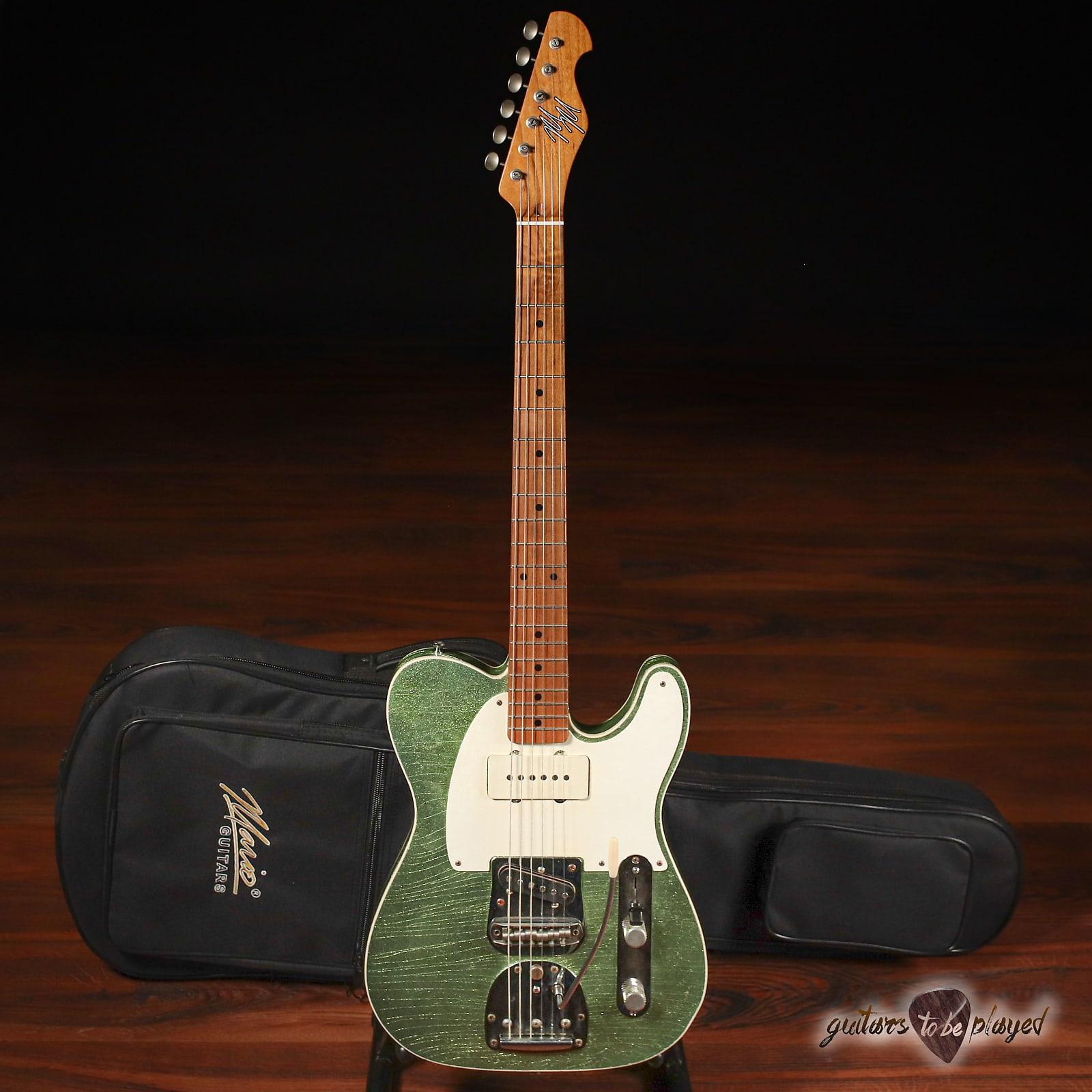Mario Martin Guitars Swamp Ash T-Jazz  w/ Fralins & StayTrem Bridge – Coke Bottle Green Flake (DEMO)