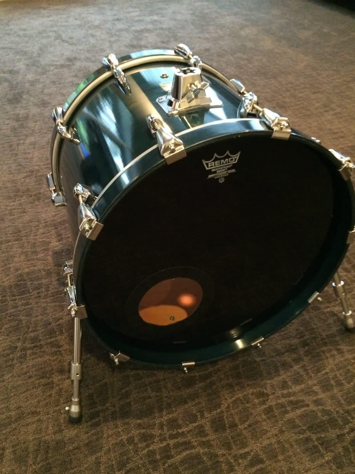 yamaha maple custom absolute 20x16 bass drum 2003 sea blue reverb. Black Bedroom Furniture Sets. Home Design Ideas