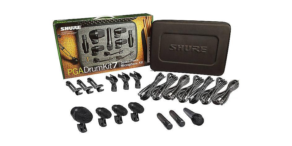 Shure PGADRUMKIT7 7pc Drum Microphone Kit w/ PGA52, PGA57, PGA56, PGA81 2019