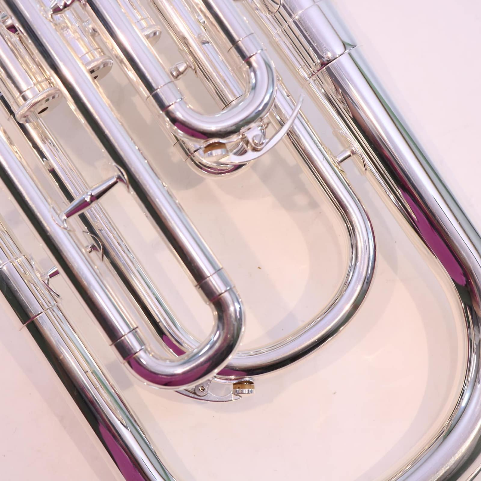 Musical Instruments & Gear Yamaha Yah-203s Tenor Horn In Silver Plate