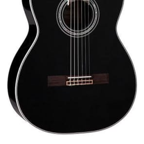 Takamine TC132SCBL Acoustic/Electric Classical Guitar - Black Finish for sale