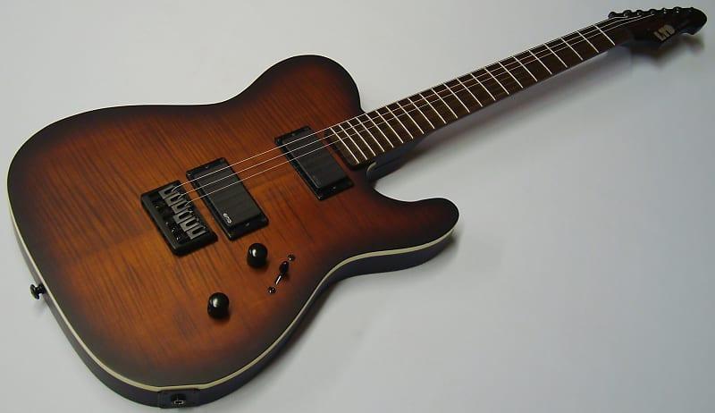 esp ltd te 406fm dark brown sunburst satin 623 guitars reverb. Black Bedroom Furniture Sets. Home Design Ideas