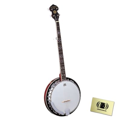 Oscar Schmidt OB5 Five-String Banjo Bundle with Polishing Cloth - Natural for sale
