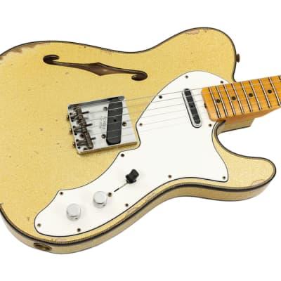 Fender Custom Shop LTD 60s Custom Telecaster Thinline Relic Aged Gold Sparkle for sale