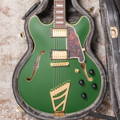 D'Angelico Deluxe Double Cutaway Matte Emerald for sale