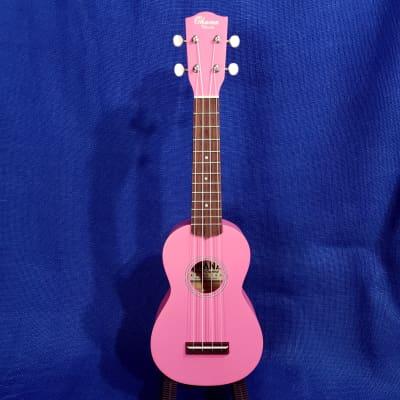 Mims Ukes: Ohana Soprano Starter Pack SK-10PK Pink Setup Ukulele Bag, Tuner, Button , Strap, Chart