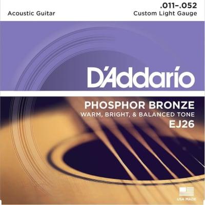 D'Addario Phosphor Bronze Acoustic Strings - 11-52