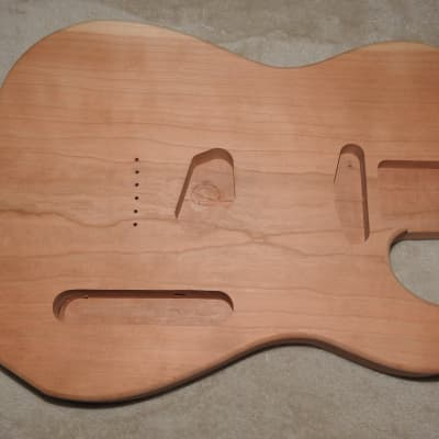 Unfinished Telecaster Body 1 Piece Cherry Standard Pickup Routes 5 Pounds 9.5 Ounces!