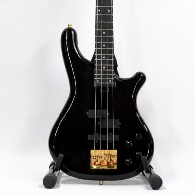 1989 Kawai Rockoon KRB-90 Neckthrough PJ Bass - MIJ - Transparent Black for sale