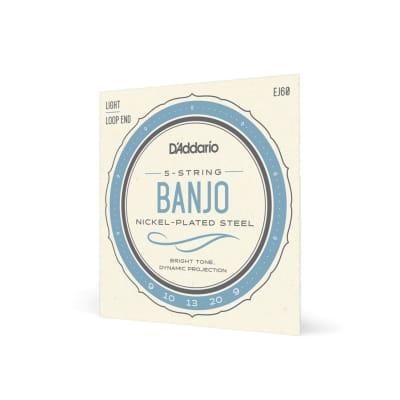 D'Addario EJ60 5-String Banjo Strings, Nickel, Light, 9-20