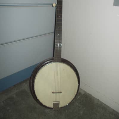 Vintage Harmony banjo 5-string 1960s brown resonator for sale