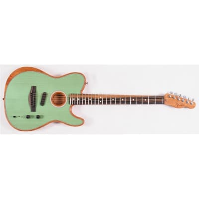 Fender American Acoustasonic Telecaster Acoustic/Electric Guitar, Surf Green for sale