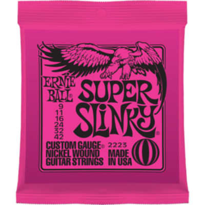 Ernie Ball Super Slinky Electric Guitar Strings Nickel Wound 009 .011 .016 .024w .032 .042