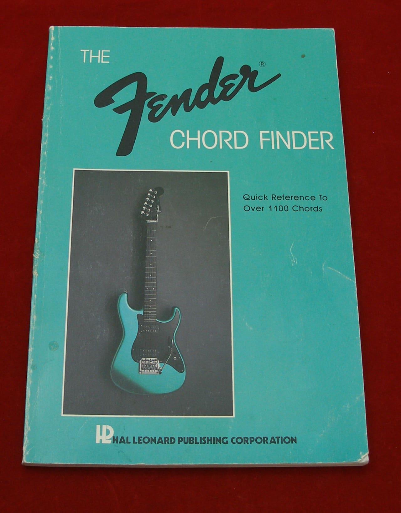 Fender Chord Finder Book 1986 Reverb